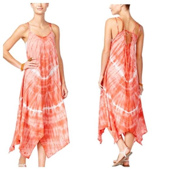 e5569d25687 NWT Raviya Tie Dye Maxi Swim Cover Up Orange